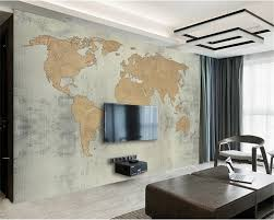 compare prices on world map wallpaper mural online shopping buy beibehang papel parede custom photo wallpaper mural antique cement wall retro world map background wall wallpaper for walls 3 d