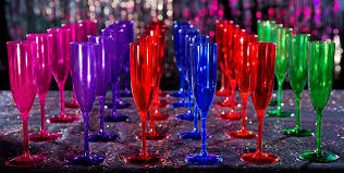 new years chagne flutes colorful brights new year s chagne flutes party city