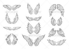 wings design templates and piercing