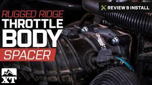 jeep wrangler rugged ridge throttle body spacer 2007 2017 jk