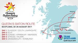 Dundee Scotland Map Gold Coast 2018 Queen U0027s Baton Relay Celebrations In Scotland