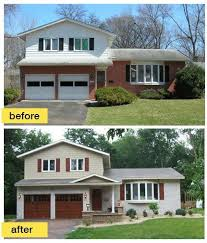 split level garage as seen on hgtv s curb appeal this 50s split level ranch came into