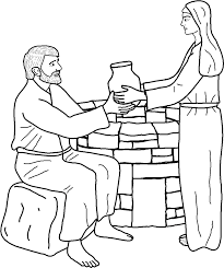 jesus and the samaritan woman coloring pages the samaritan woman