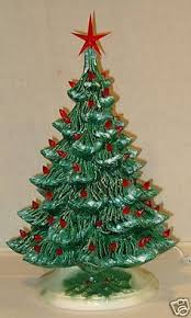 lighted ceramic tree nowell spruce 17 inch blue w