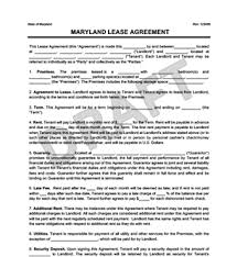 free rental lease agreement download maryland residential lease rental agreement create u0026 download