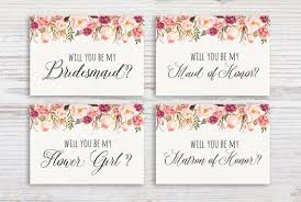 will you be my invite printable bridesmaid invitation will you