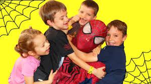 babysitting 4 kids at once funny parody for kids disneycartoys