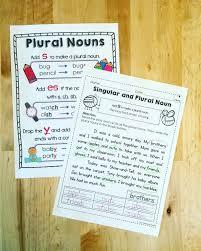 singular and plural nouns practice pages plural nouns plural