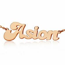 Rose Gold Name Necklace 21 Best Rose Gold Name Necklace Images On Pinterest Gold Name