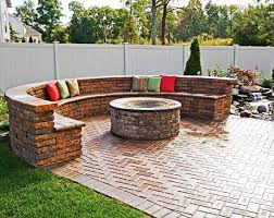 Backyard Patio Design by Best Outdoor Fire Pit Seating Ideas