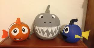 pumpkin decoration images nemo brucey u0026 dory pumpkins holidays pinterest holidays