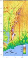 Topographic Map Of Europe by Detailed Topographical Map Of Togo Togo Detailed Topographical
