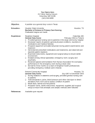 Resume Registered Nurse Examples New Grad Nursing Resume Getessay
