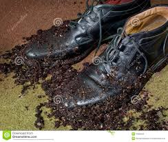 mud covered men u0027s dress shoes stock photo image 10986640