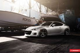 subaru brz custom reworked subaru brz gets minor upgrades and custom rims by vossen