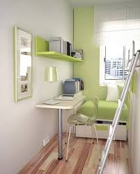 amazing narrow modern study room with green color include bedroom