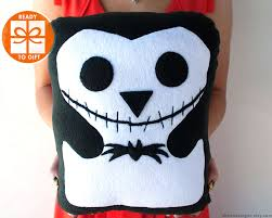 jack skellington plush penguin skellington pillow halloween