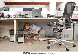 sous bureau banque d images femme affaires fixation informatique sous