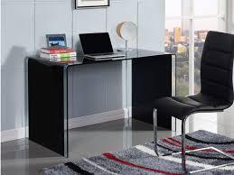 bureau en verre tremp noir bureau ortigia verre trempé courbé coloris noir
