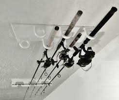 Ceiling Mount Rod by Ceiling Mounted Fishing Rod Holder For 6 Big Game Salt And Fresh Rods