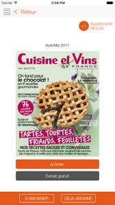 cuisine vins cuisine et vins de on the app store