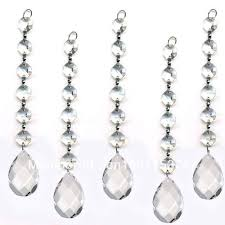 hanging crystals 10pcs lot diamond hanging garland wedding strand with