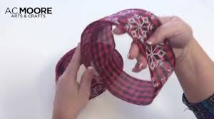 one more minute how to make a holiday bow youtube