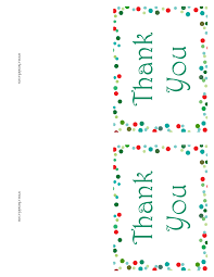 christmas thank you cards free printable christmas thank you cards