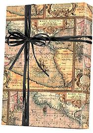 map wrapping paper roll world map world traveller gift wrap wrapping paper