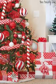 2016 red u0026 white christmas tree