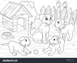childrens coloring book cartoon family on stock vector 691745977
