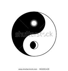 yin yang symbol sun moon stock vector 661081420