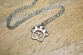 australian shepherd jewelry twisted heart paw silver necklace u2013 iheartdogs com