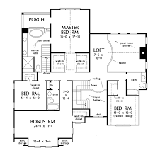 colonial style house plan 4 beds 4 baths 3216 sq ft plan 929