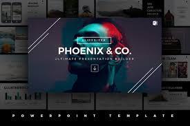 phoenix minimal powerpoint template presentation templates