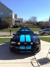 2013 mustang gt stripes grabber blue stripe on black 2013 5 0 mustang evolution