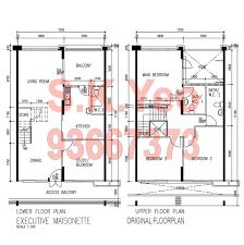 Maisonette Floor Plan Em Hougang Hdb For Sale U2013 Blk 558 Hougang Street 51 By Property