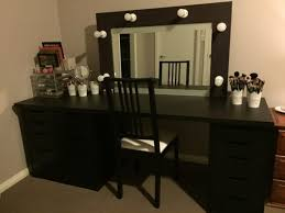 Corner Makeup Vanity Set Furniture White Corner Makeup Vanity Table With Organizers For
