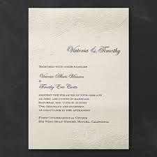 embossed wedding invitations embossed lace invitation wedding invitations carlson craft