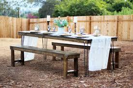 hairpin leg farm table rentals san diego modern wood table rental