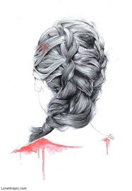 drawn braid women u0027s hair pencil and in color drawn braid women u0027s