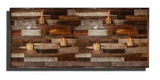 large wood wall hanging wood wall with floating wood shelves made of reclaimed