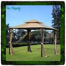 amazon com 10 x 10 gazebo metal steel roof outdoor patio pergola