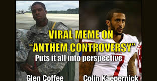 Perspective Meme - powerful viral meme puts the colin kaepernick anthem controversy