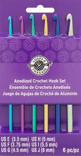 anodized crochet hook set by loops u0026 threads e j