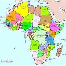 africa map countries and capitals countries and capital cities memrise