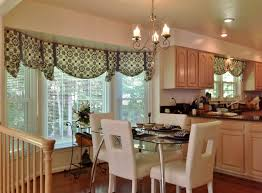 Kitchen Curtain Fabrics Kitchen Exquisite Kitchen Valances For Bay Windows Round