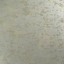 chic glamorous rustic beige spotted silver wallpaper powder room