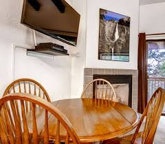 Wawona Dining Room by Yosemite West Small Loft Condo B207 Lofts For Rent In Yosemite