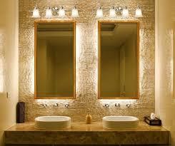 modern bathroom mirror lighting wall mounted chrome round small